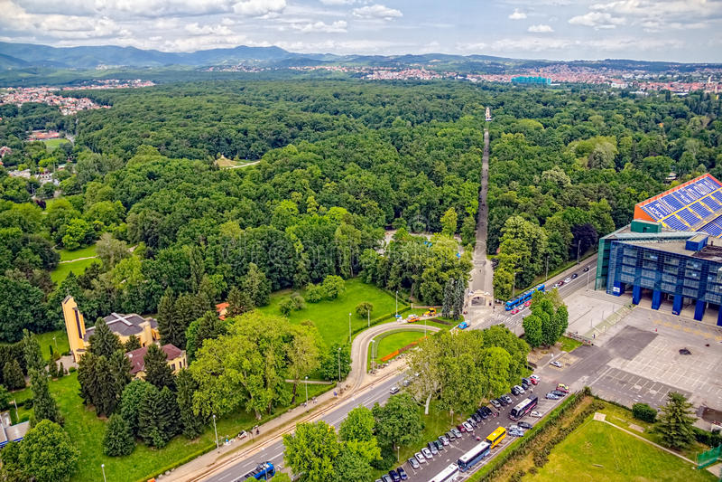 Maksimirpark, Zagreb stock afbeelding