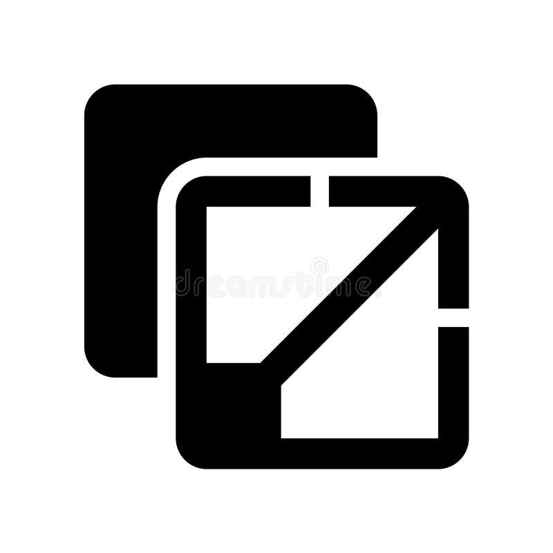 Maksymalizuje ikonę Modny Maksymalizuje logo pojęcie na białym tle royalty ilustracja