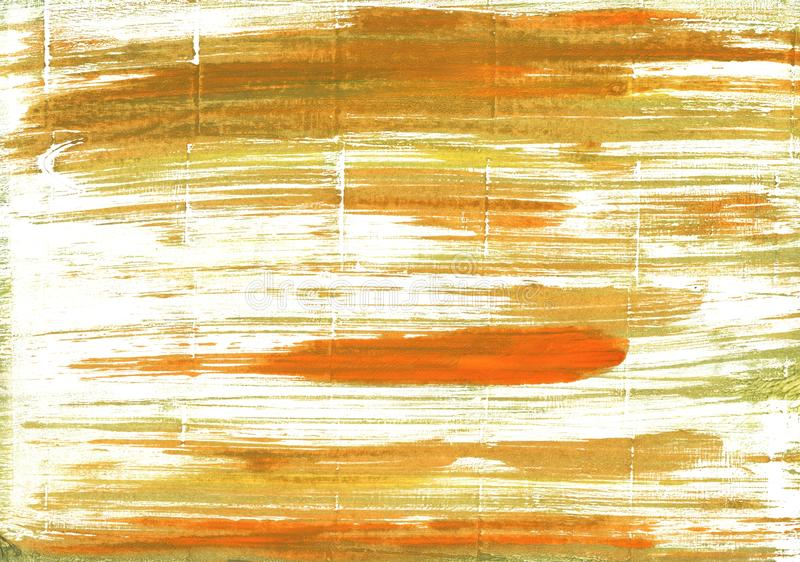 Maksymalny Żółty Czerwony abstrakcjonistyczny akwareli tło ilustracja wektor