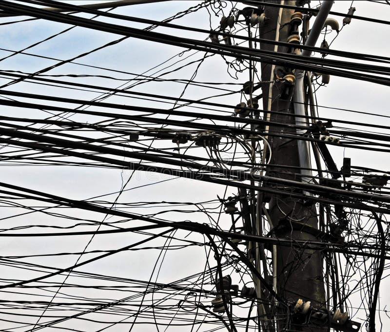 maktöverföringslinje, digital fotobild som en bakgrund arkivbild