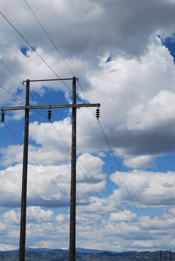 Makt i molnen arkivfoton