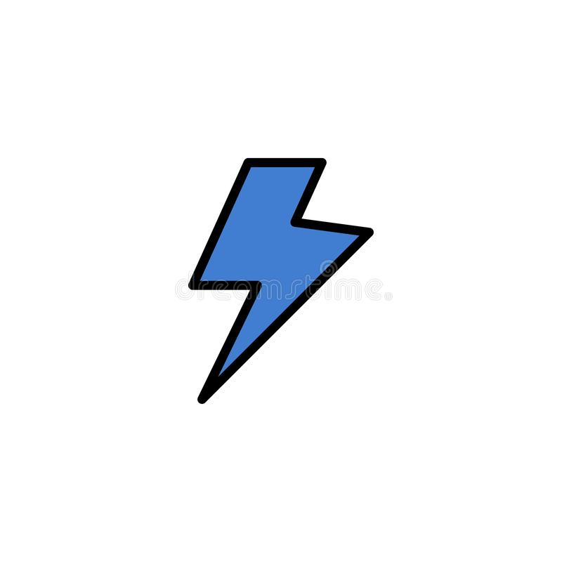 Makt laddning, elektrisk affär Logo Template plan f?rg stock illustrationer