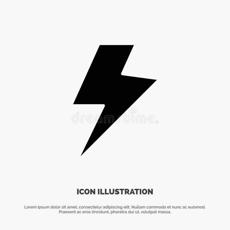 Makt laddning, elektrisk fast skårasymbolsvektor stock illustrationer