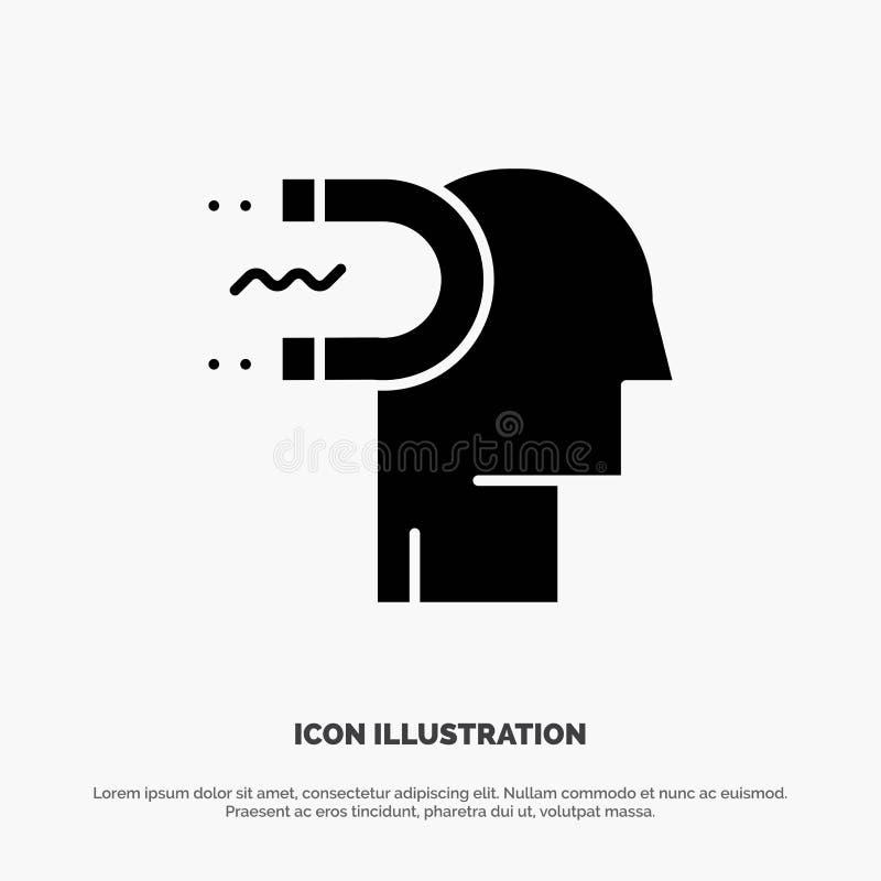 Makt påverkan, koppling, människa, påverkan, för skårasymbol för ledning fast vektor vektor illustrationer