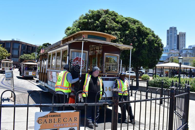 Makten Hyde Memorial Cable Car Turnaround, 5 arkivfoton