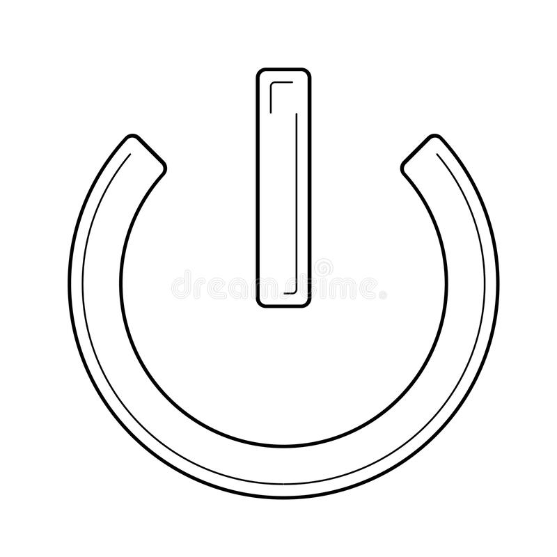 Maktknapplinje symbol stock illustrationer