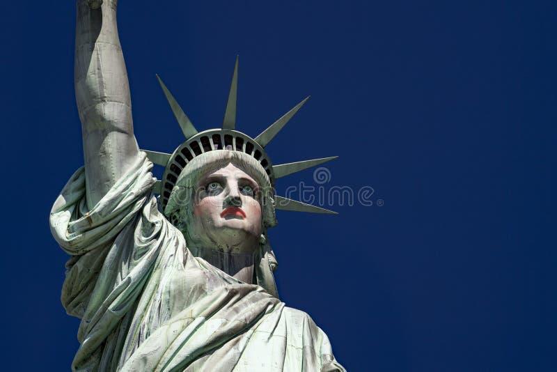 Makup en la estatua del estilo de la reina de fricción de la libertad en Nueva York fotografía de archivo libre de regalías