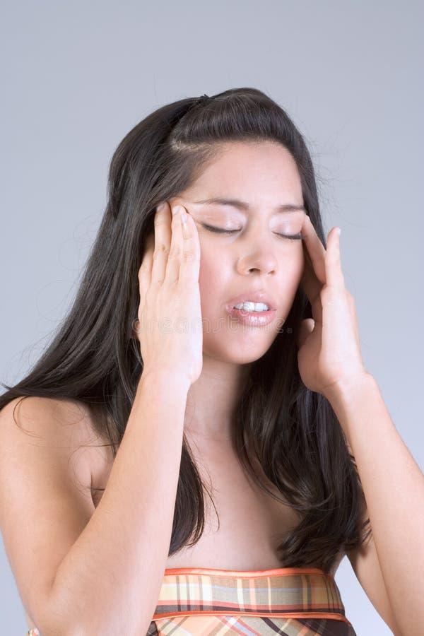 Mal de tête image stock