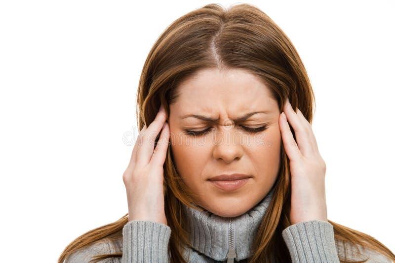 Mal de tête photos libres de droits