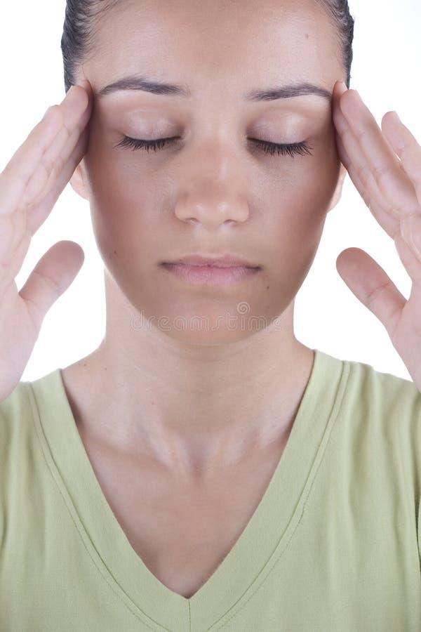 Mal de tête photo stock