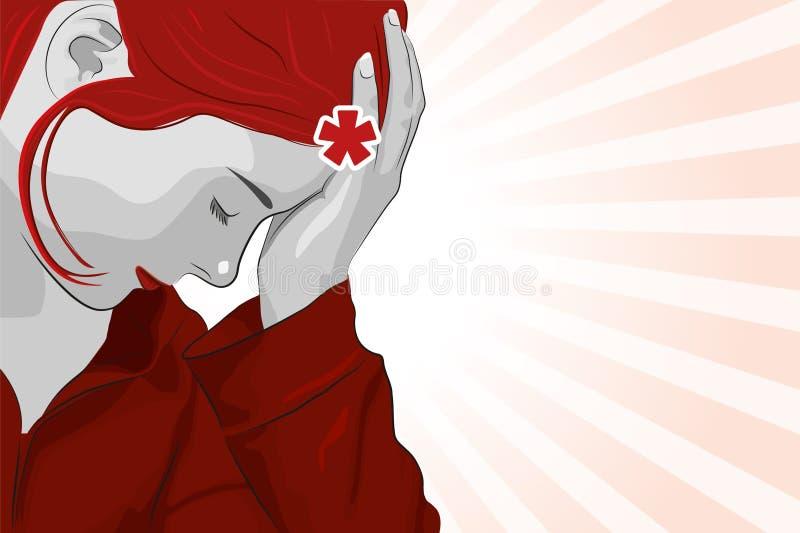 Mal de tête illustration libre de droits