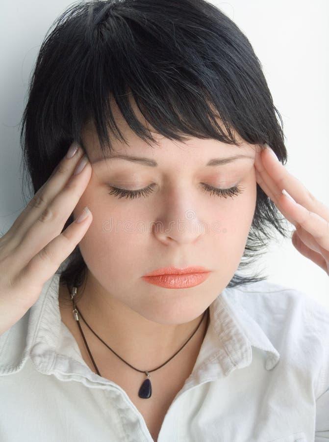 Download Mal de tête image stock. Image du brunette, instruit, businessperson - 740793