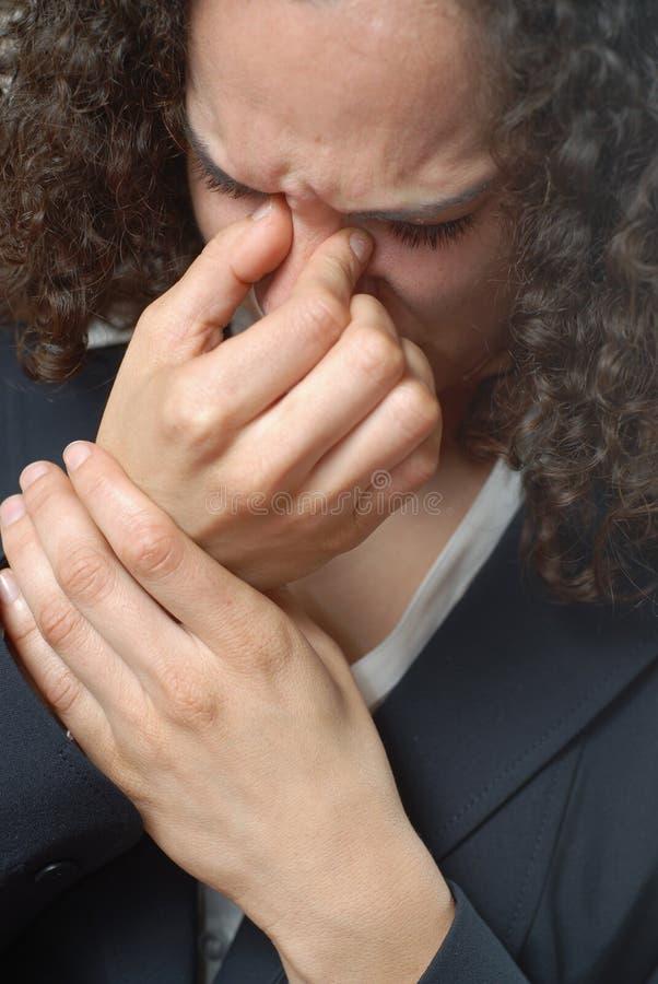 Mal de tête de sinus photographie stock libre de droits