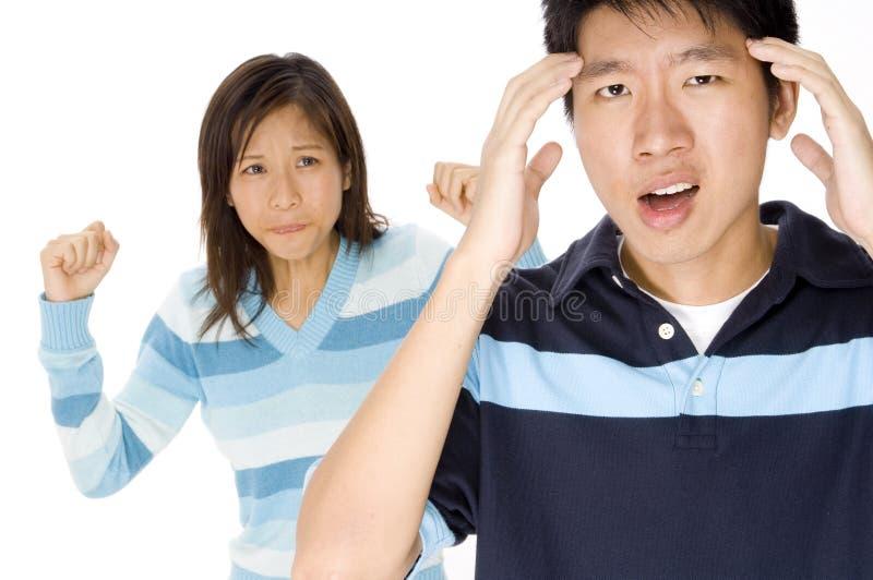 Mal de tête de tension photo stock