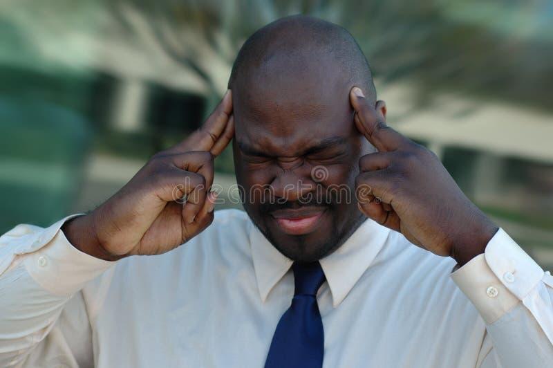 Mal de tête intense image stock