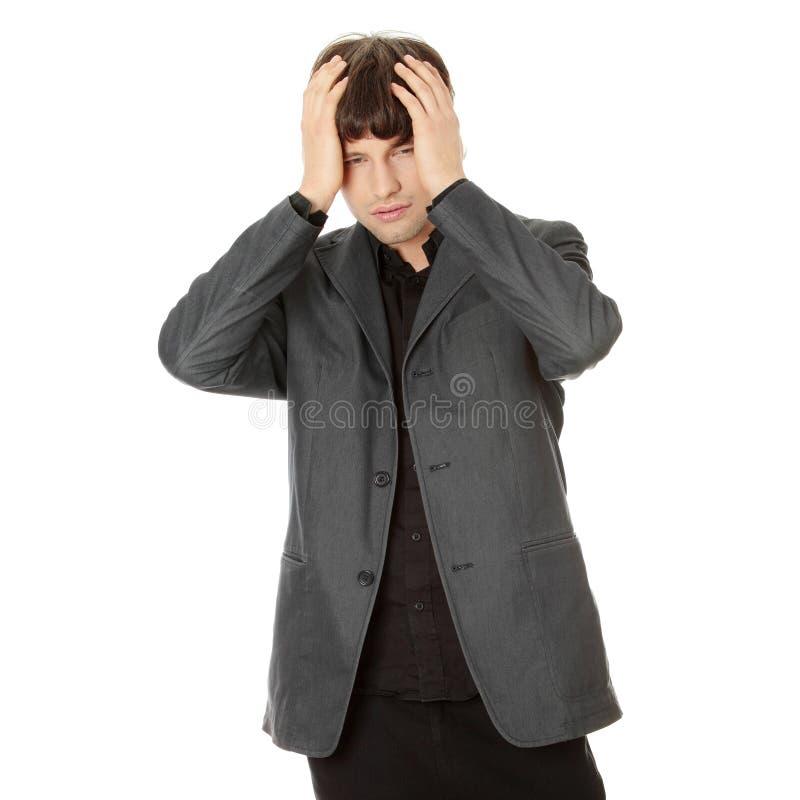 Mal de tête ou problème photo stock