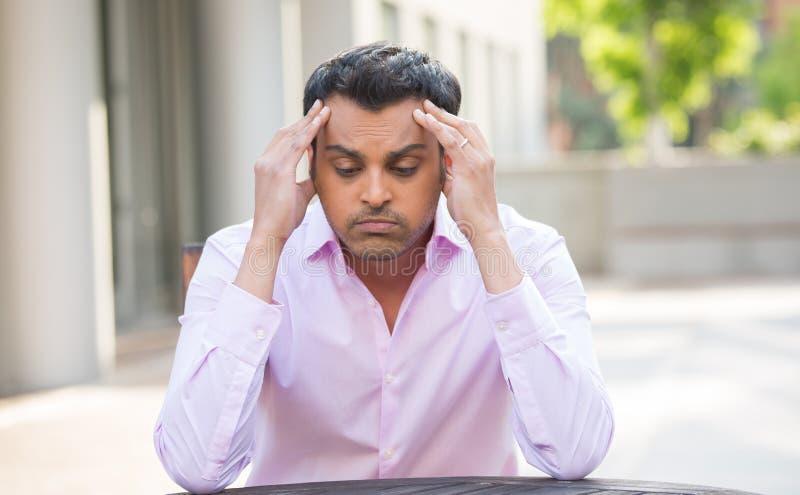 Mal de tête, problèmes, questions image libre de droits