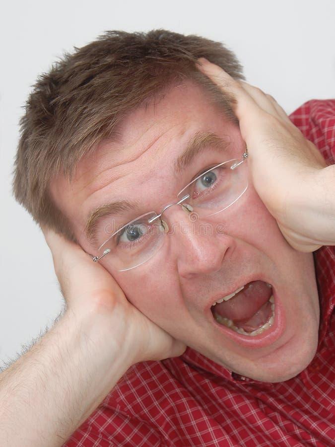 Mal de tête ? Tension ? photos libres de droits