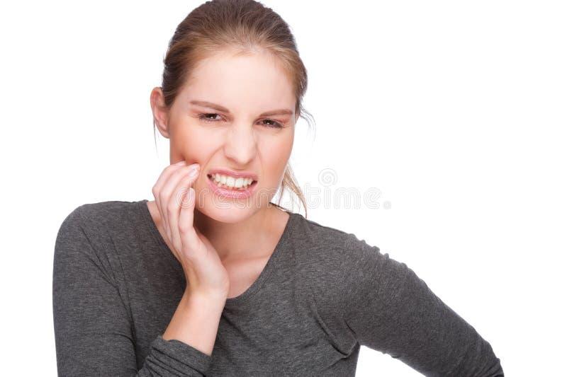 Mal di denti immagine stock