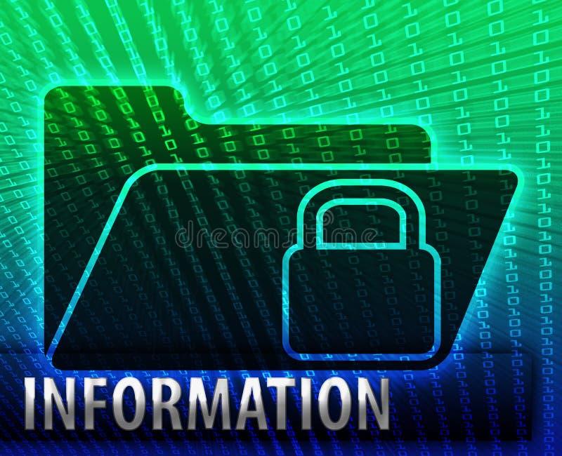 Mal do conceito do dobrador do armazenamento alternativo de informação de dados ilustração royalty free