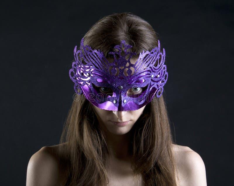 Mal en máscara fotografía de archivo libre de regalías