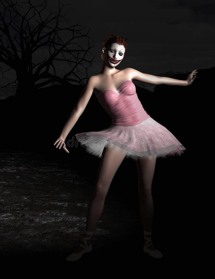 Mal, muñeca siniestra de la bailarina de Halloween imagen de archivo