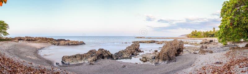Mal Pais strand på natten fotografering för bildbyråer