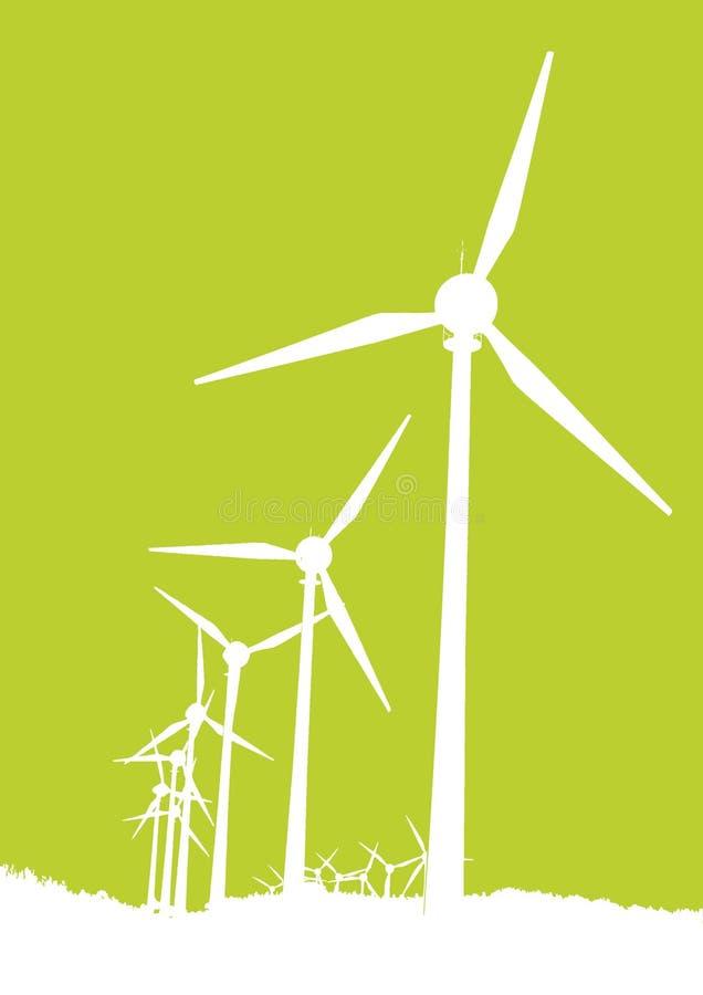 mal wind stock illustrationer