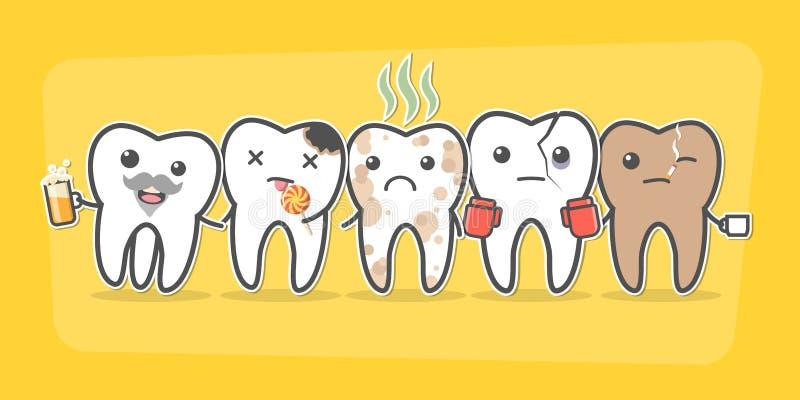 Mala compañía de los dientes stock de ilustración