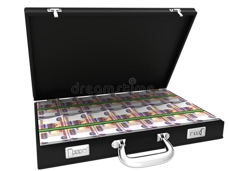 mala de viagem 3D completamente dos rublos ilustração do vetor