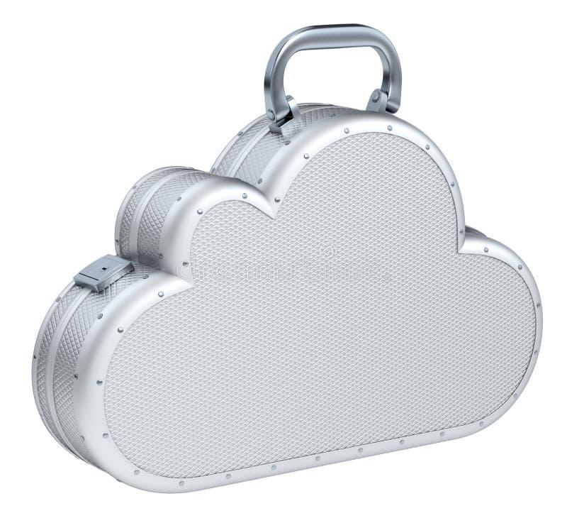 Mala de viagem da nuvem ilustração royalty free