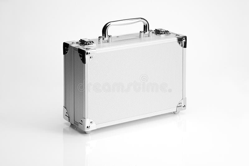 Mala de viagem de alumínio fotografia de stock royalty free