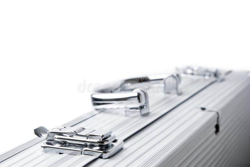 Mala de viagem de alumínio isolada imagens de stock royalty free