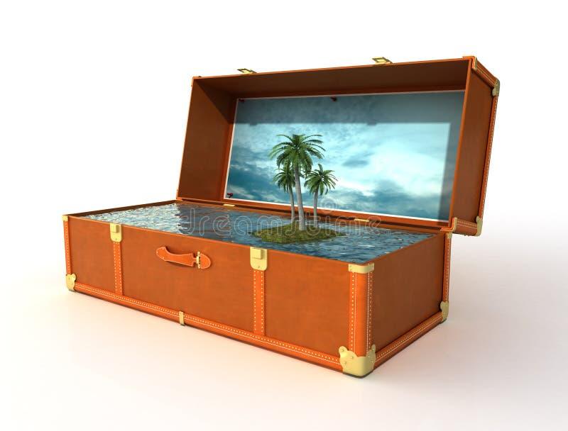 Mala de viagem de um feriado ideal ilustração royalty free