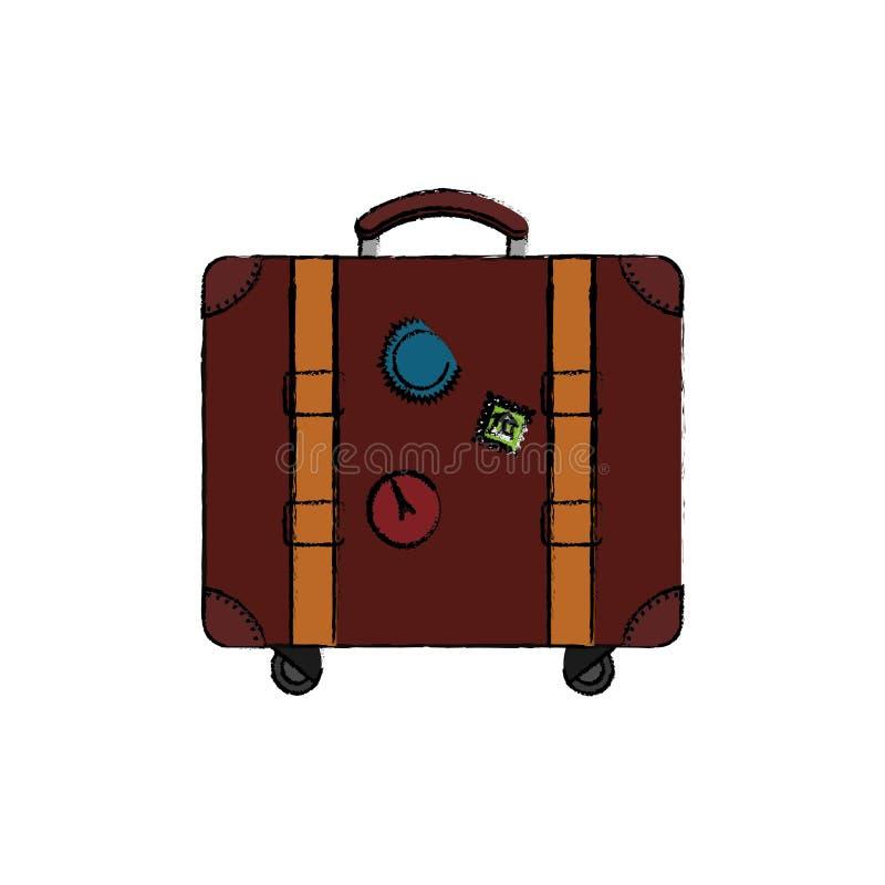 Mala de viagem do curso isolada ilustração stock
