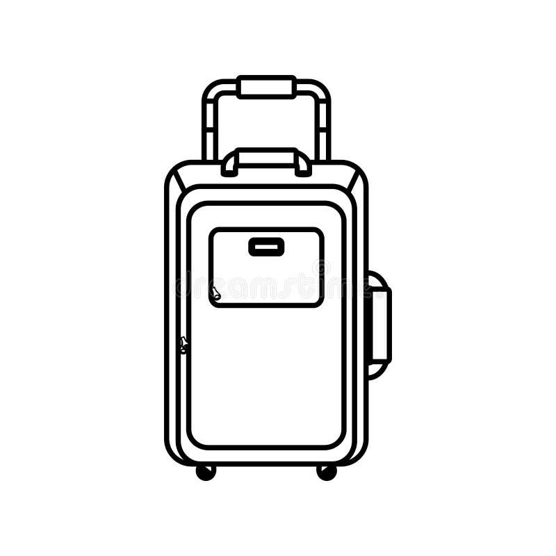 Mala de viagem do curso isolada ilustração do vetor