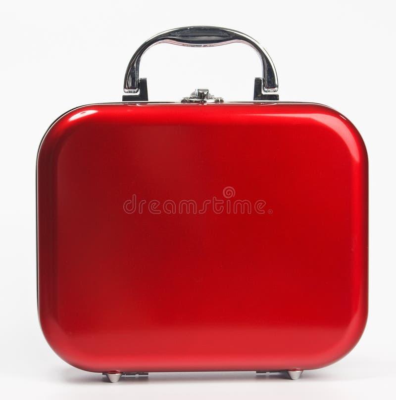Mala de viagem pequena vermelha imagens de stock royalty free