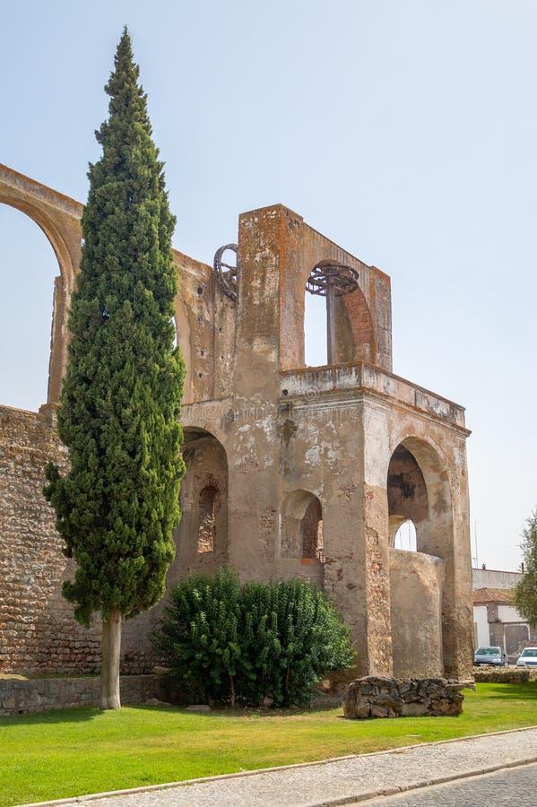 Mala i slotten av Serpa, Portugal arkivbild