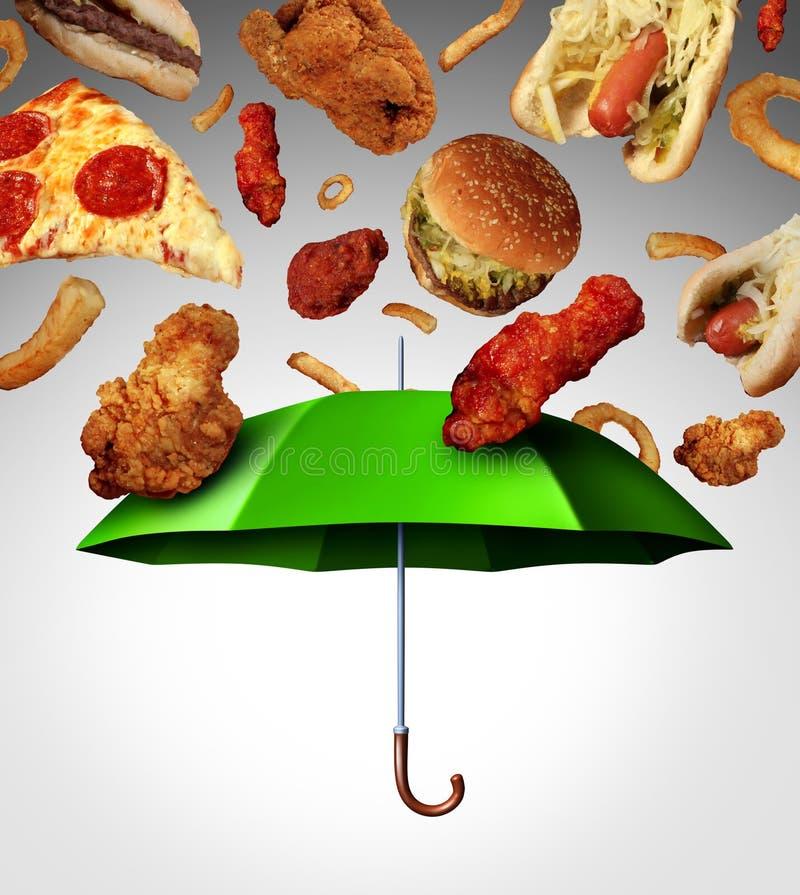 Mala protección de la dieta stock de ilustración