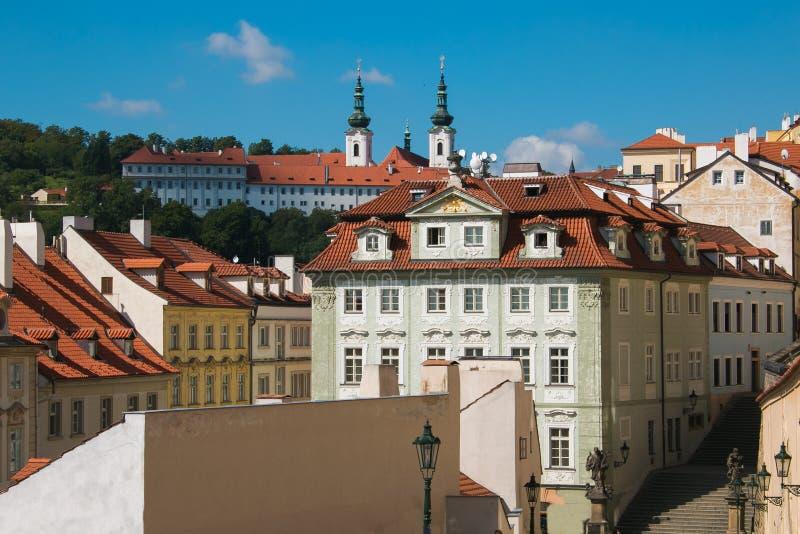 Mala Strana Lesser Town van Praag in Bohemen, Tsjechische Republiek royalty-vrije stock foto's