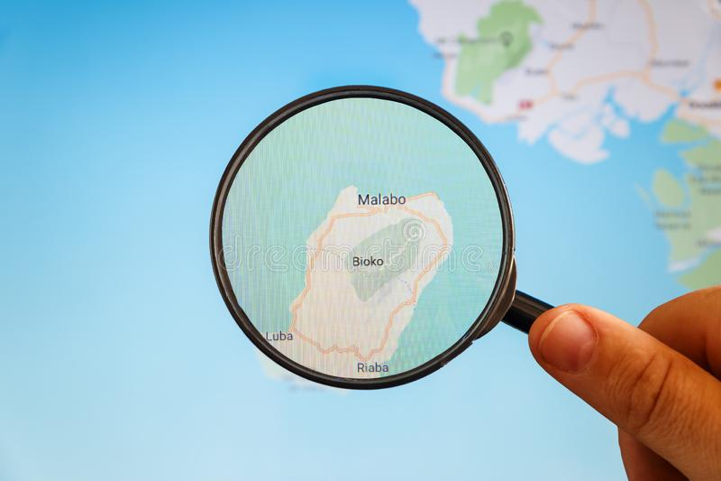 Malabo, Guinea Ecuatorial correspondencia pol?tica imagenes de archivo