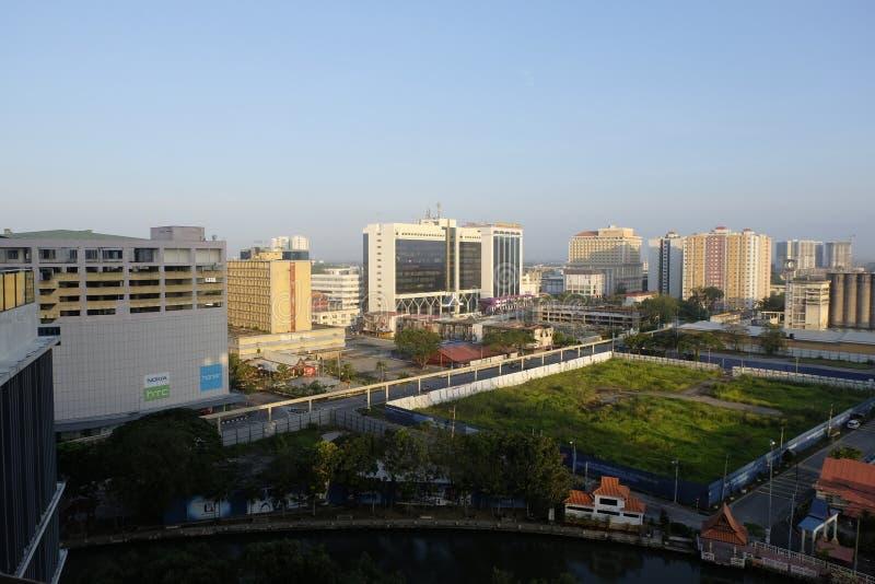MALACA, MALASIA - MARZO 13,2018: vista aérea de la ciudad de Malaca imagen de archivo libre de regalías