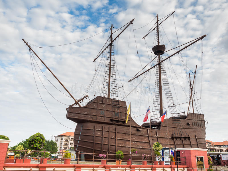 MALACCA, ΜΑΛΑΙΣΙΑ - 29 ΦΕΒΡΟΥΑΡΊΟΥ: Malacca θαλάσσιο μουσείο στοκ φωτογραφία με δικαίωμα ελεύθερης χρήσης