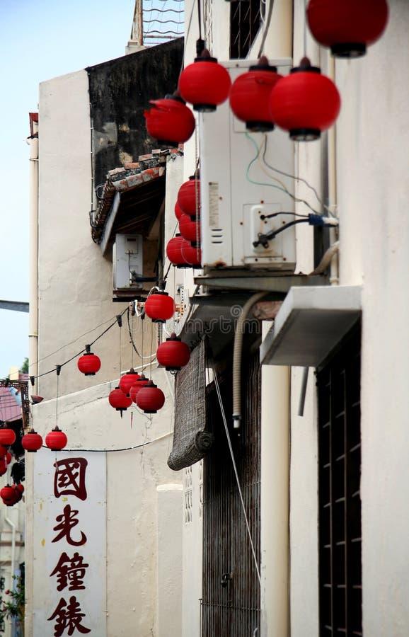Malacca οδός, Μαλαισία στοκ εικόνες