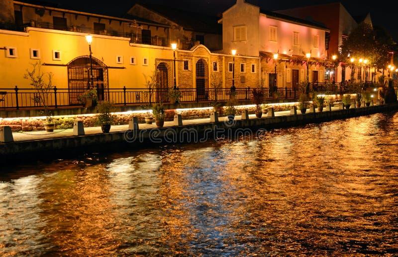 Malacca flod royaltyfri fotografi
