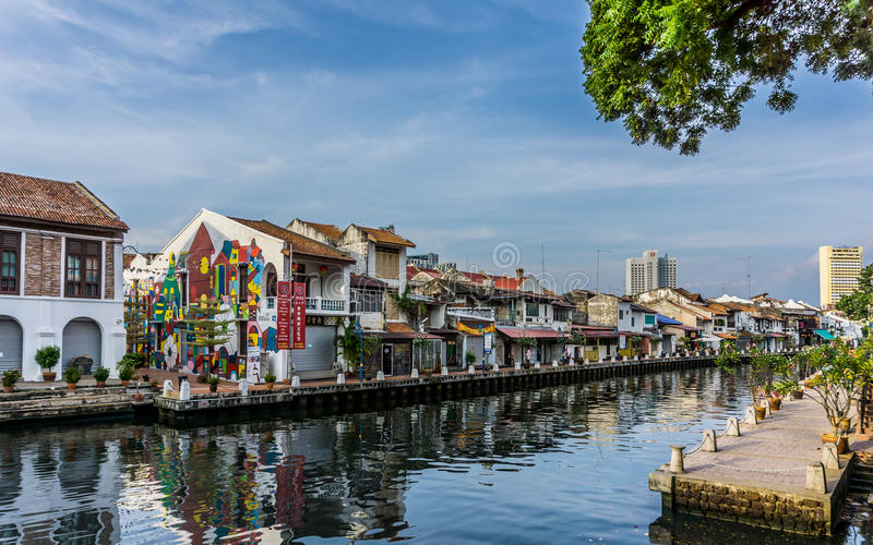 Malacca flod arkivbilder