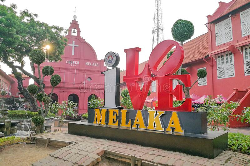Malacca, Malaysia, April 8, 2018: Malacca city is awarded the UN. ESCO World Heritage City status with rich history. Featured here is Dutch Square, popular stock images