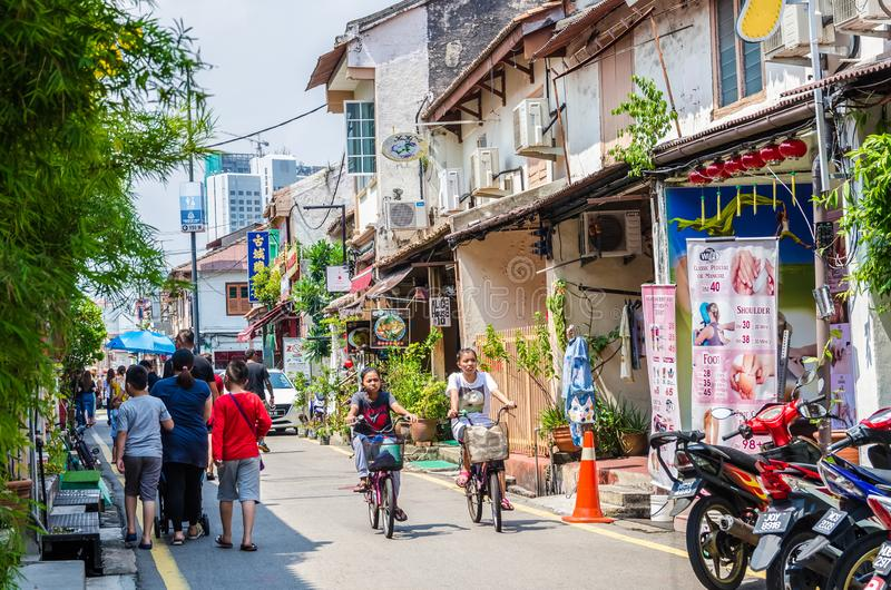 Jonker Street is the centre street of Chinatown in Malacca. It was listed as a UNESCO World. Malacca,Malaysia - April 21,2019 : Jonker Street is the centre royalty free stock photography