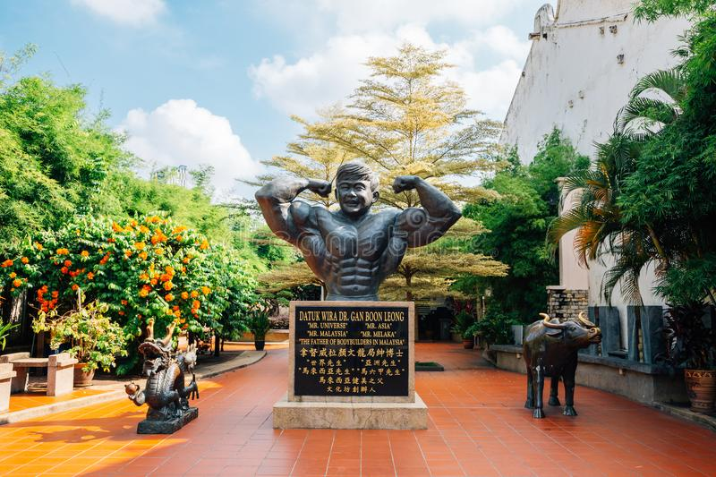 Dr. Gan Boon Leong Statue and Memorial park at Malacca old town in Malacca, Malaysia royalty free stock images