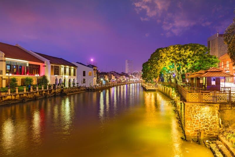 Malacca, Malezja linia horyzontu obrazy royalty free